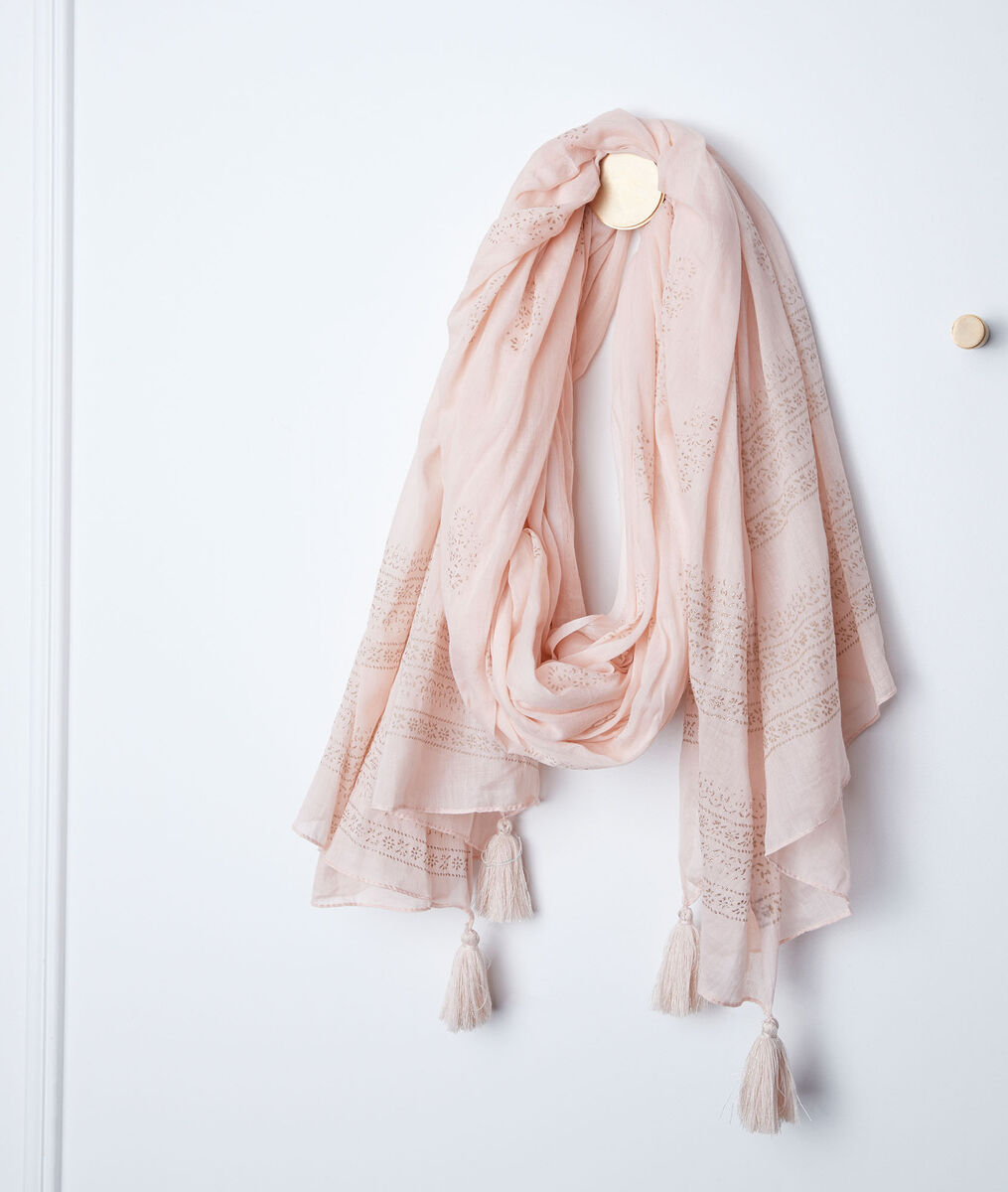 Bella striped fringed scarf PhotoZ | 1-2-3