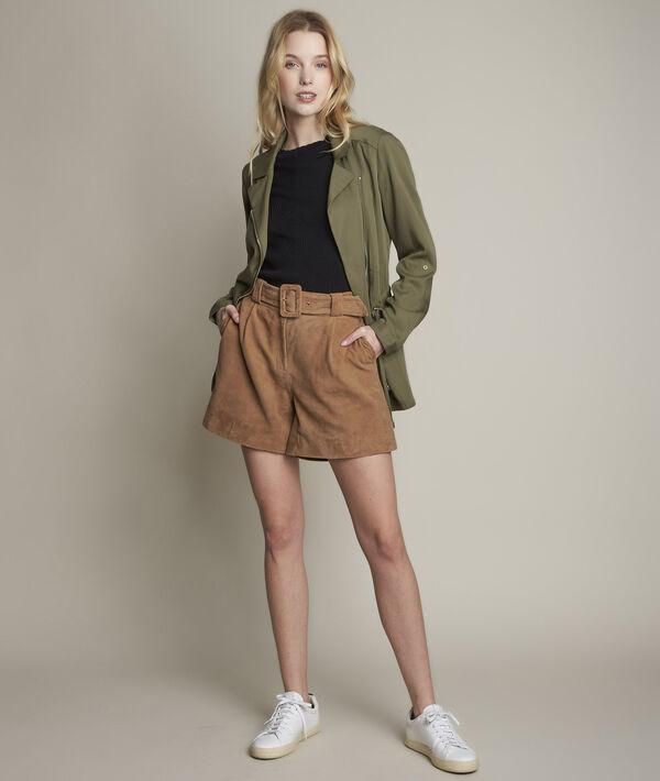 Imani suede shorts PhotoZ | 1-2-3