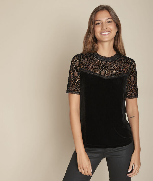 Chelsea lace and velvet top PhotoZ | 1-2-3