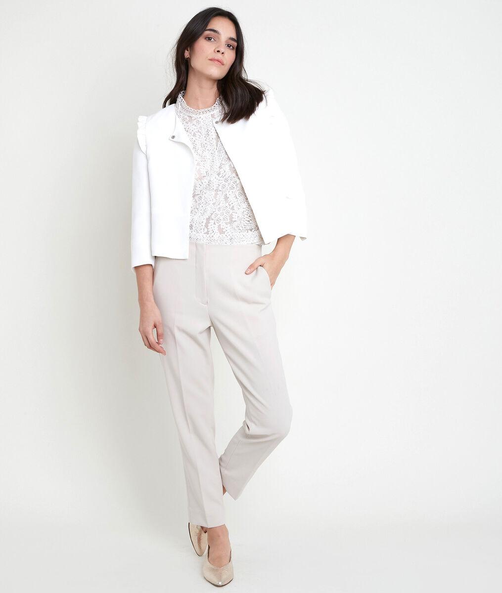 PHILISE cream crepe jacket PhotoZ | 1-2-3