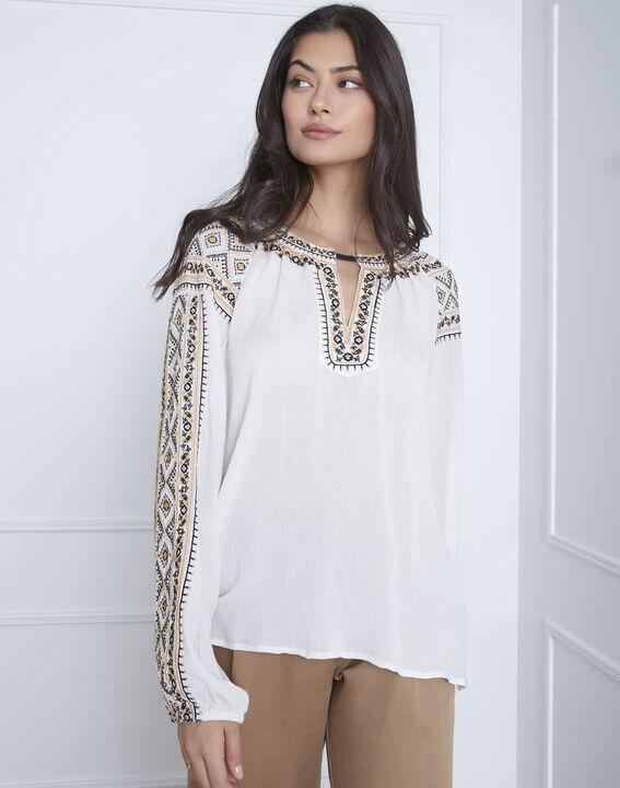 Vahan embroidered ecru blouse (2) - Maison 123