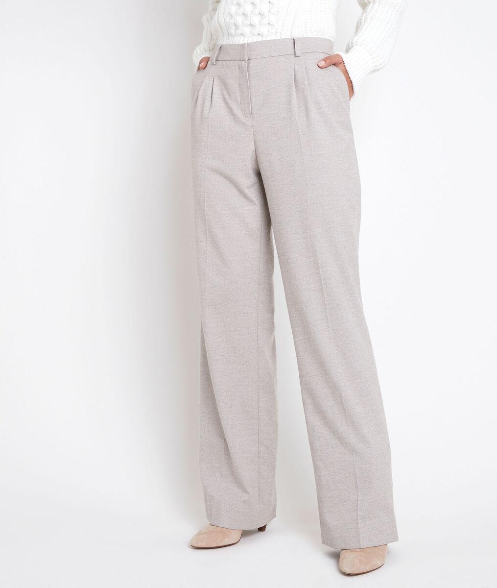 Marcel beige pleated wide-legged trousers PhotoZ | 1-2-3