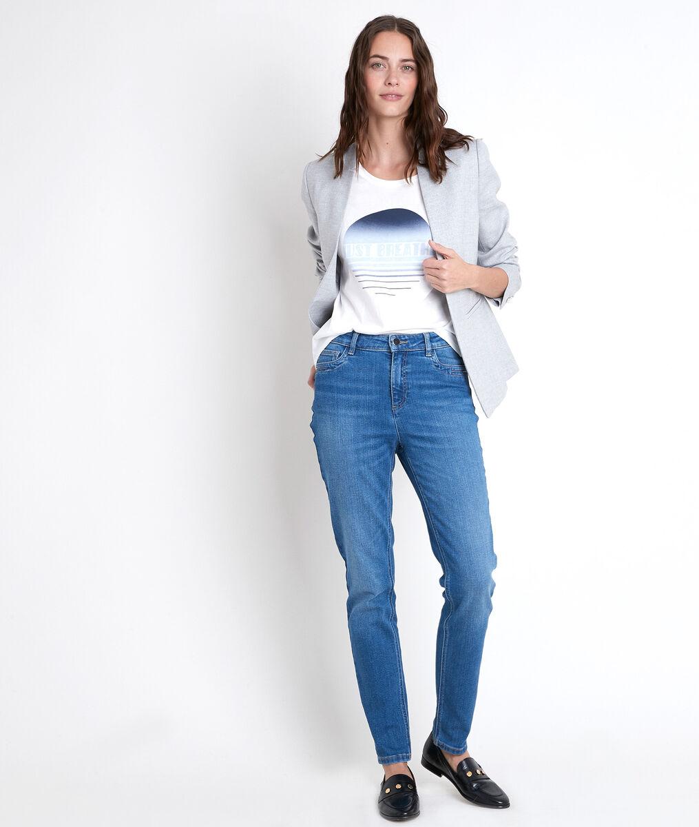 Original 123: Sonia eco-responsible straight stone washed jeans PhotoZ | 1-2-3