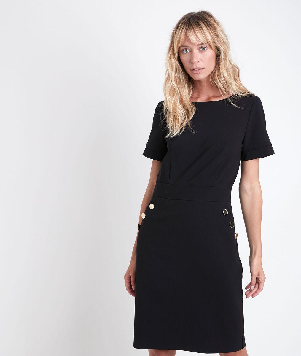 Capucine black microfibre dress PhotoZ | 1-2-3
