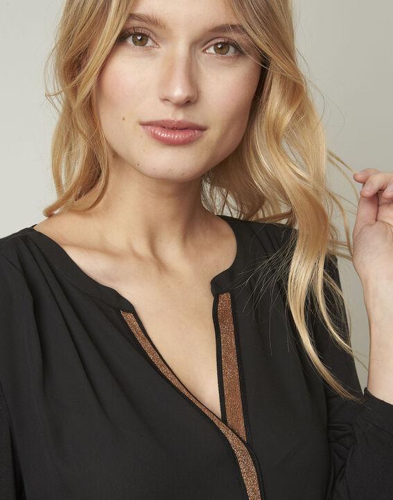 Vassilia henley collar black lurex blouse (4) - Maison 123