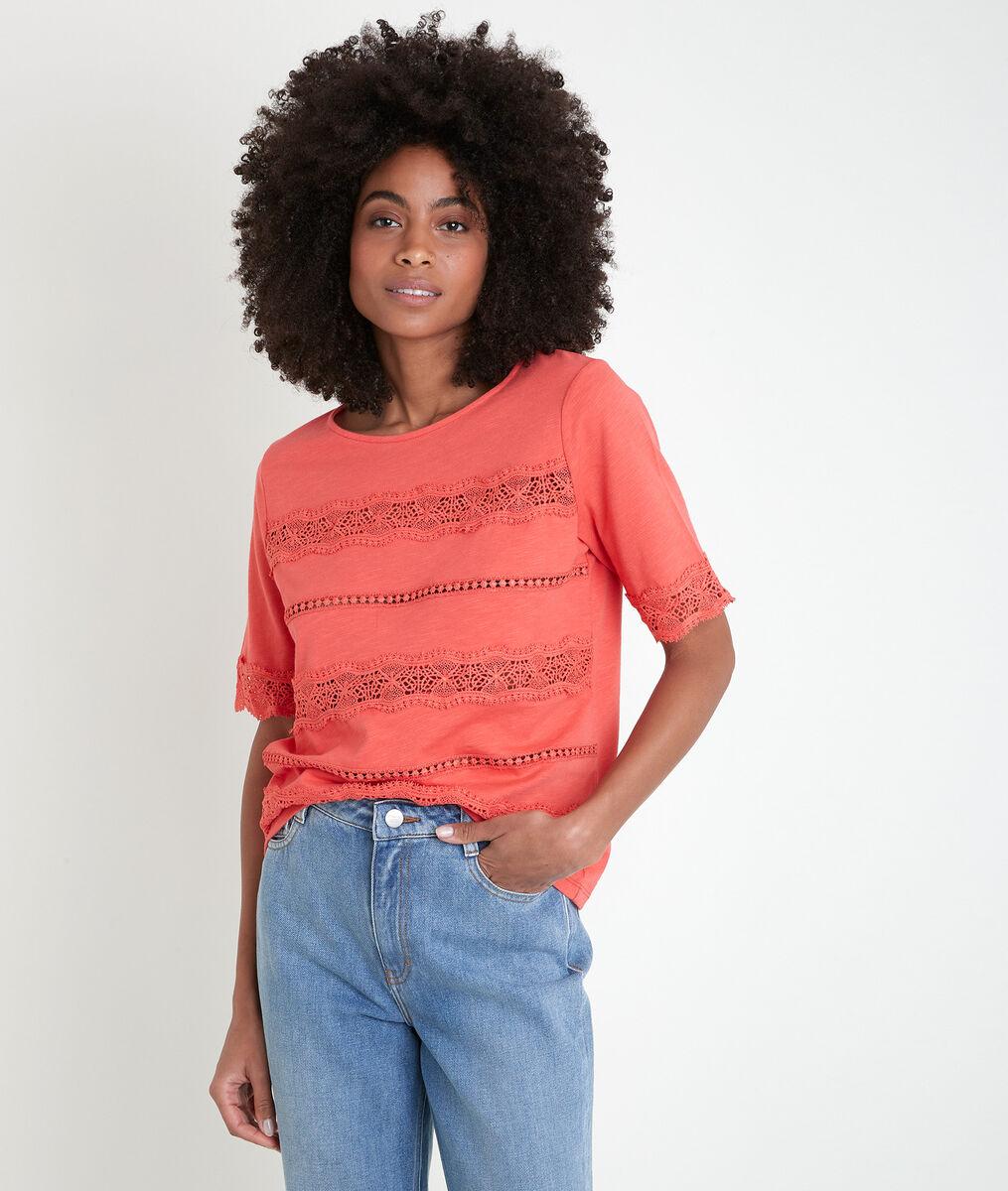 Ibelia coral lace T-shirt PhotoZ   1-2-3