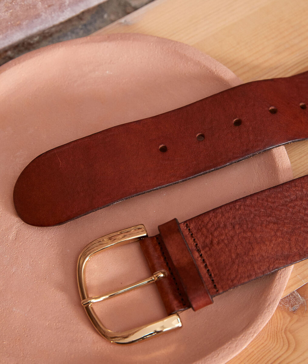 Estelle wide leather belt PhotoZ | 1-2-3