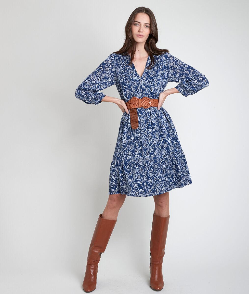Lou navy floral print dress  PhotoZ | 1-2-3