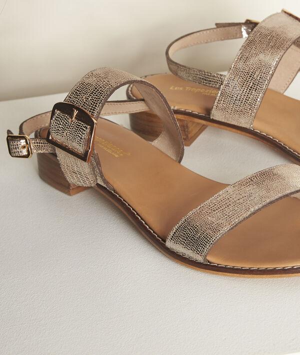 Les Tropéziennes Jideo golden sandals PhotoZ | 1-2-3
