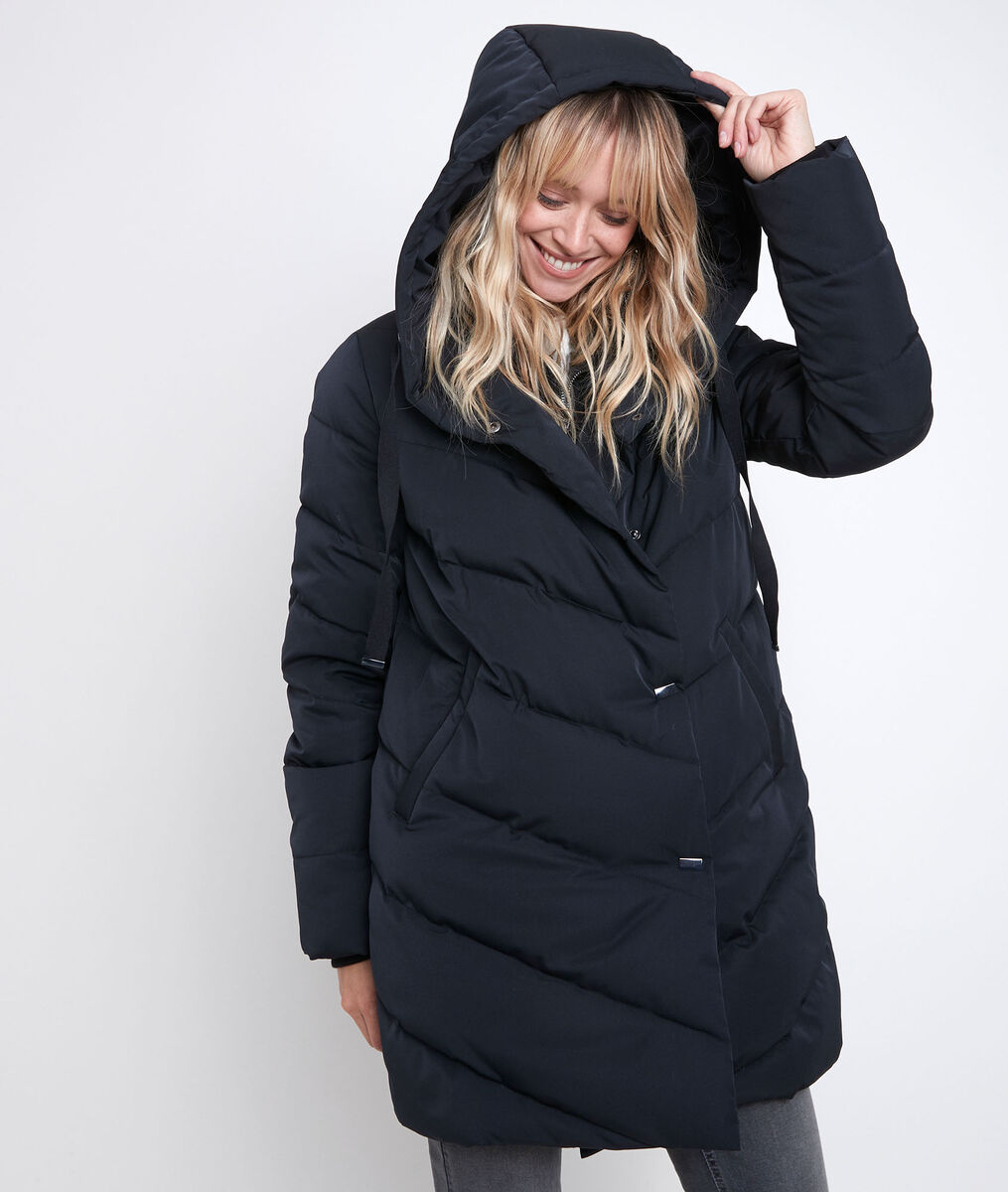 Lison black hooded down jacket PhotoZ | 1-2-3