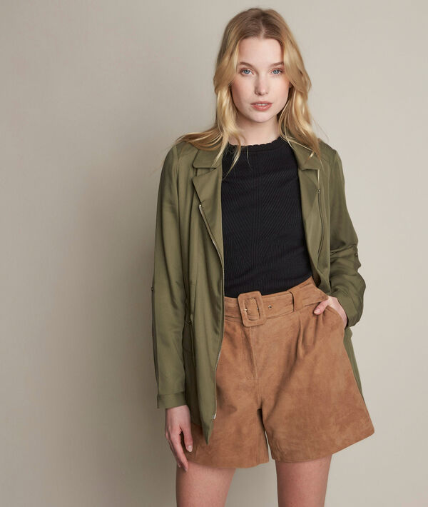 Lucie khaki Tencel jacket PhotoZ | 1-2-3