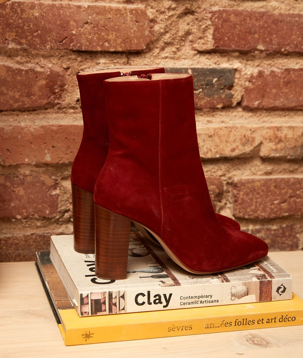Valentina bordeaux high-heeled ankle boots PhotoZ | 1-2-3