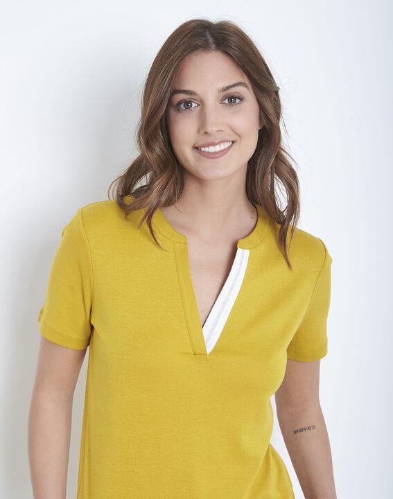 Priscille lime green t-shirt with decorative neckline (3) - Maison 123