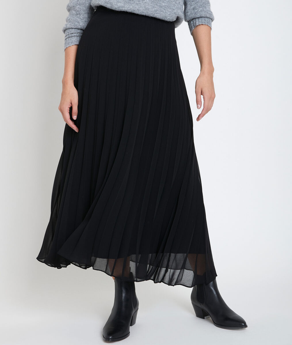 Greta black pleated skirt PhotoZ | 1-2-3