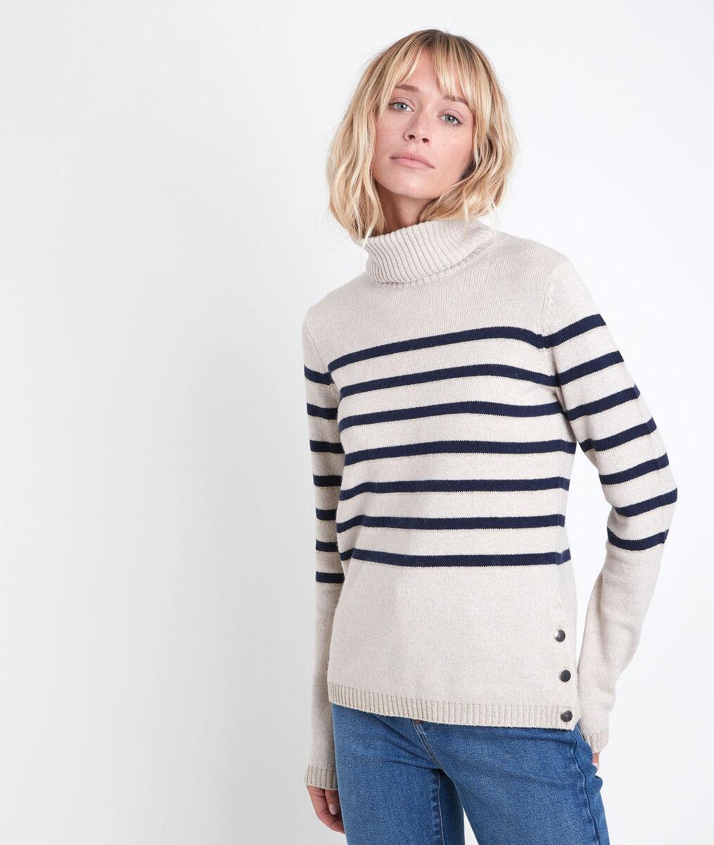 Renata striped polo neck pullover PhotoZ | 1-2-3