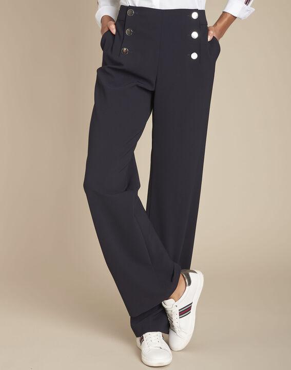 Hubert navy microfibre sailor trousers PhotoZ | 1-2-3
