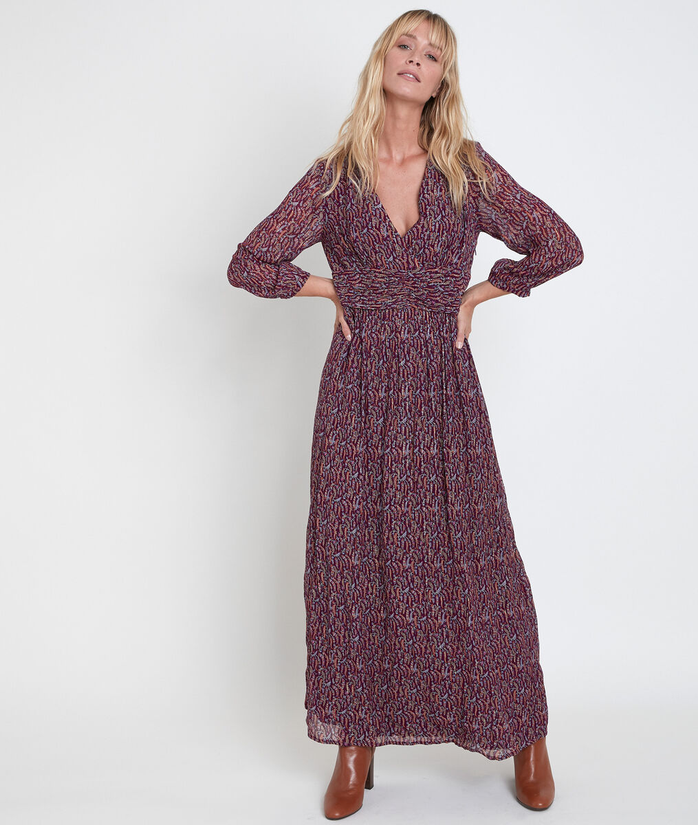 Claudine bis printed maxi dress PhotoZ | 1-2-3