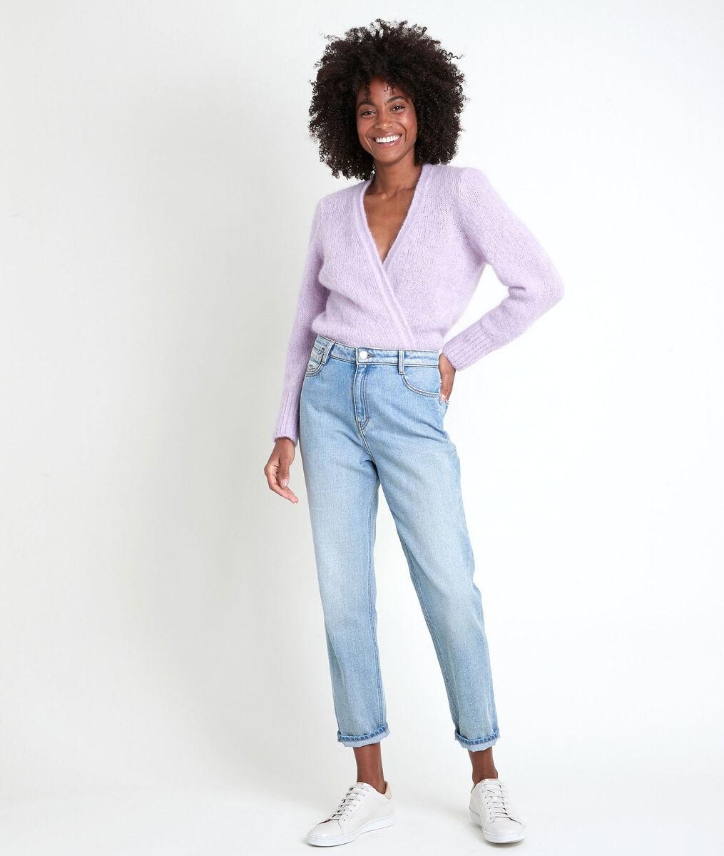 Rozelle mauve mohair blend cardigan PhotoZ | 1-2-3
