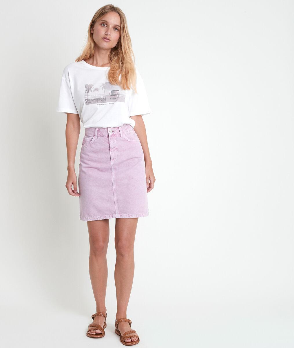 Etoile mauve denim skirt PhotoZ | 1-2-3