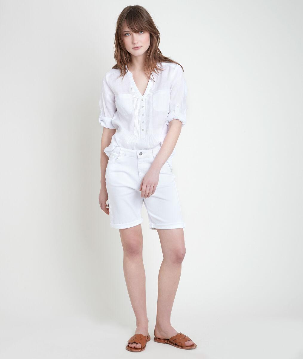 ROMA white linen blouse PhotoZ | 1-2-3
