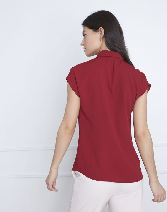 Valeria red straight-cut top (4) - Maison 123