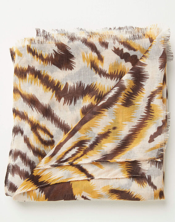 Altesse caramel animal print scarf PhotoZ | 1-2-3