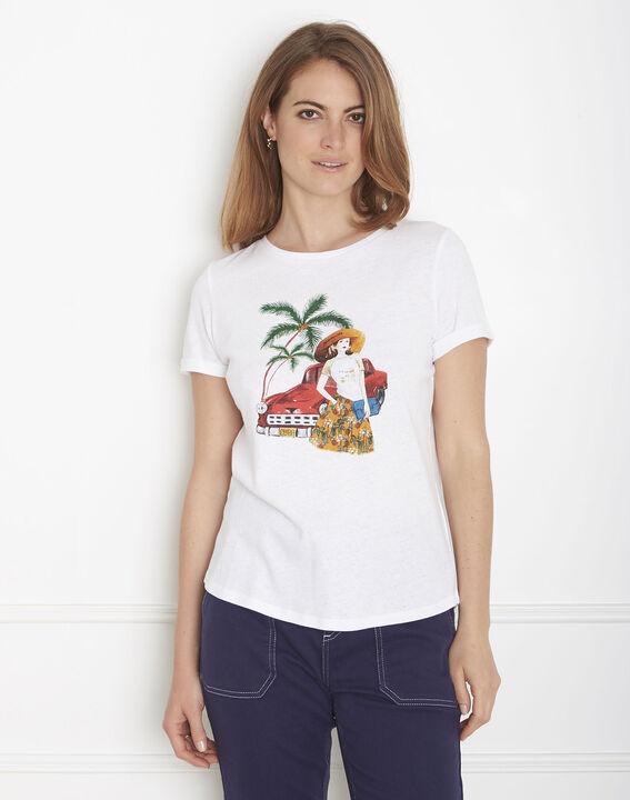 Padillac ecru printed T-shirt PhotoZ | 1-2-3