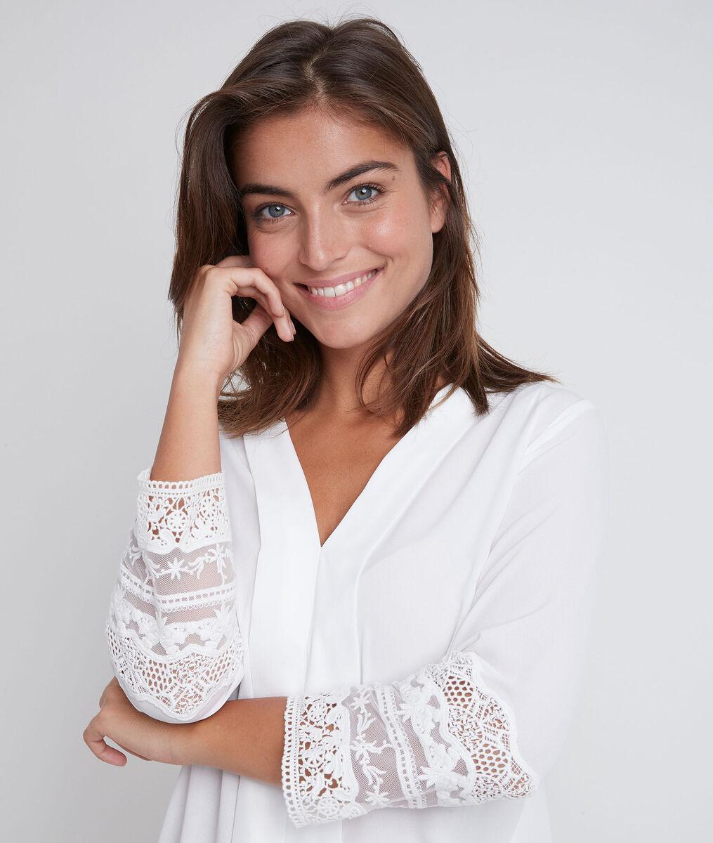 Janis ecru lace blouse PhotoZ | 1-2-3