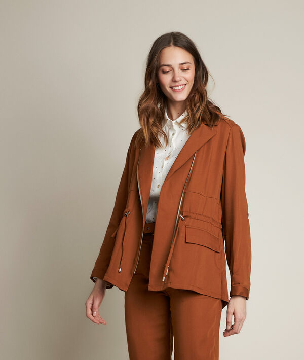 Lucie caramel Tencel jacket PhotoZ | 1-2-3