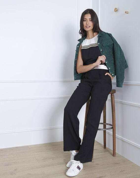 Honey black jumpsuit with lurex detailing (2) - Maison 123