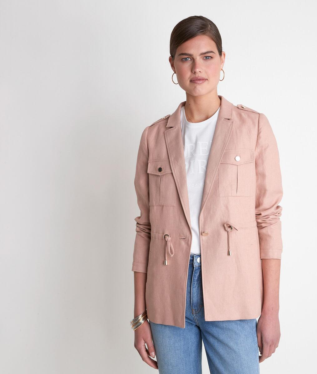 Tulle powder pink linen jacket  PhotoZ | 1-2-3