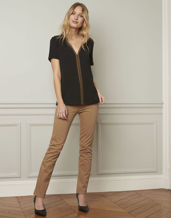 Valentine embroidered black blouse (1) - Maison 123