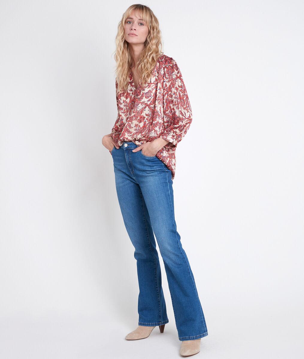 ELSA red printed blouse PhotoZ | 1-2-3