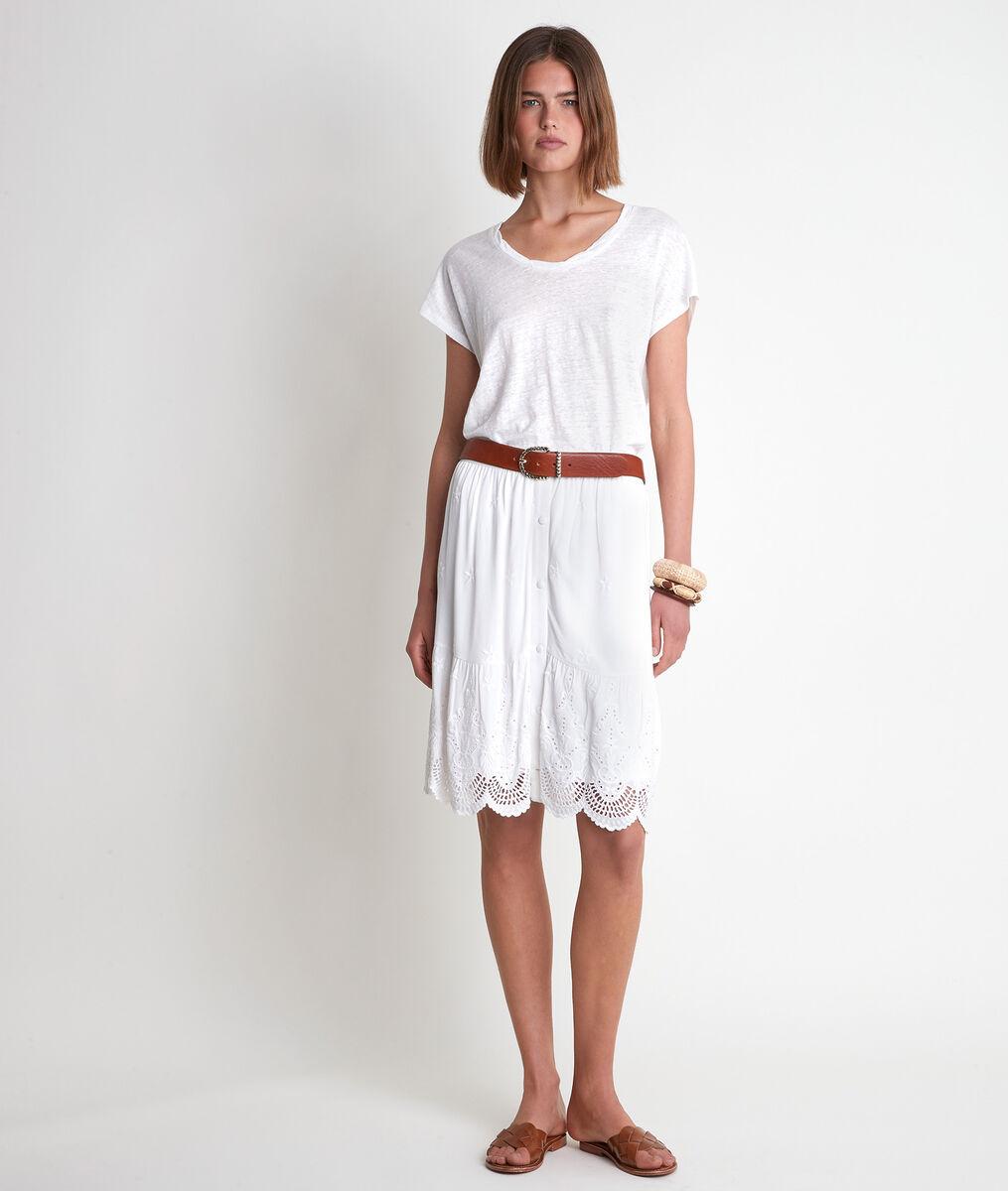 Icool white organic linen T-shirt  PhotoZ | 1-2-3