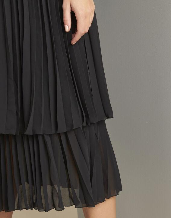 Nice black long pleated dress (5) - Maison 123