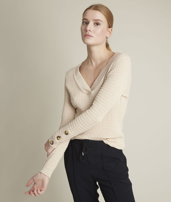 Dolmen beige pullover in recycled polyester PhotoZ | 1-2-3