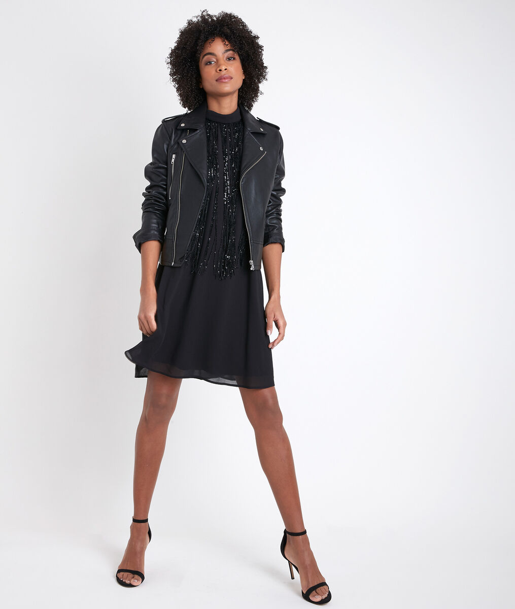 Chachacha black sequinned dress PhotoZ | 1-2-3
