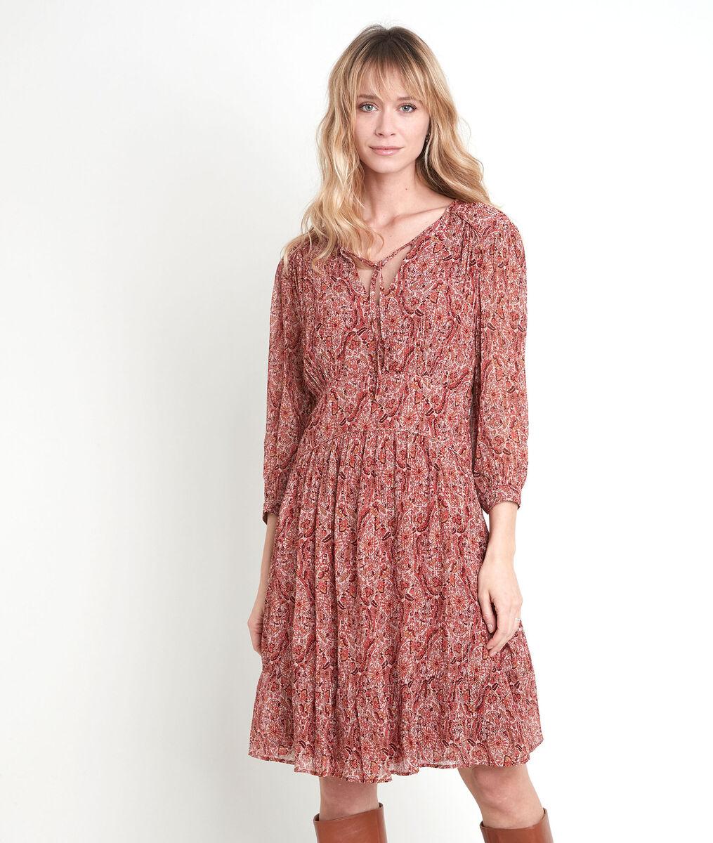 Ludmilla beige print dress PhotoZ | 1-2-3