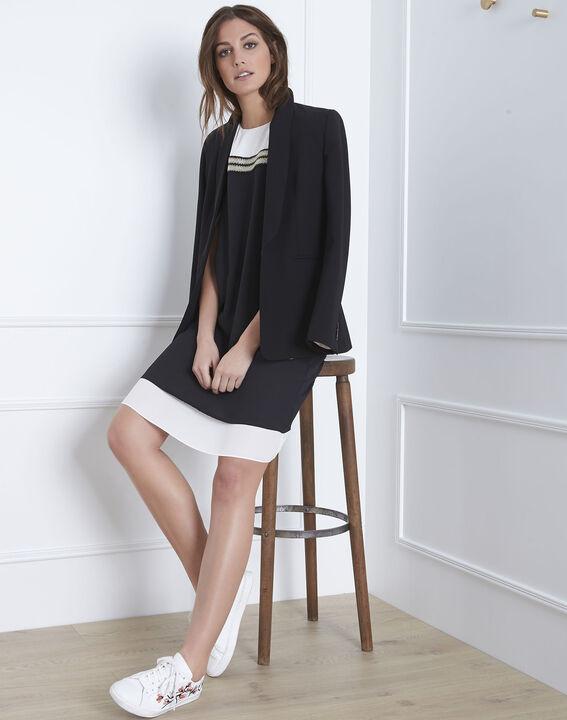 Isola black and white dress with lurex detailing PhotoZ | 1-2-3
