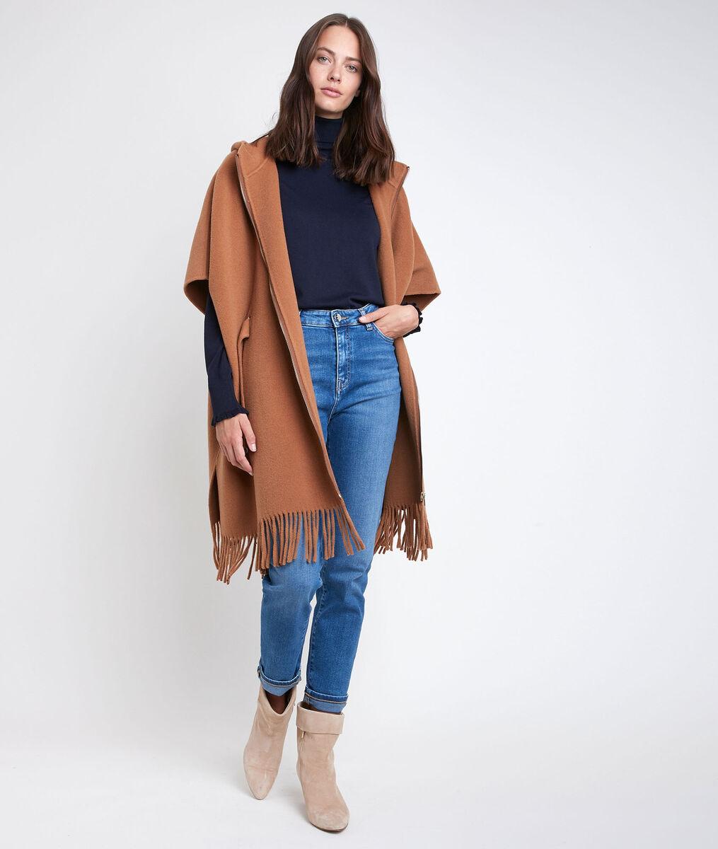 Oyune wool cape with fringe PhotoZ | 1-2-3