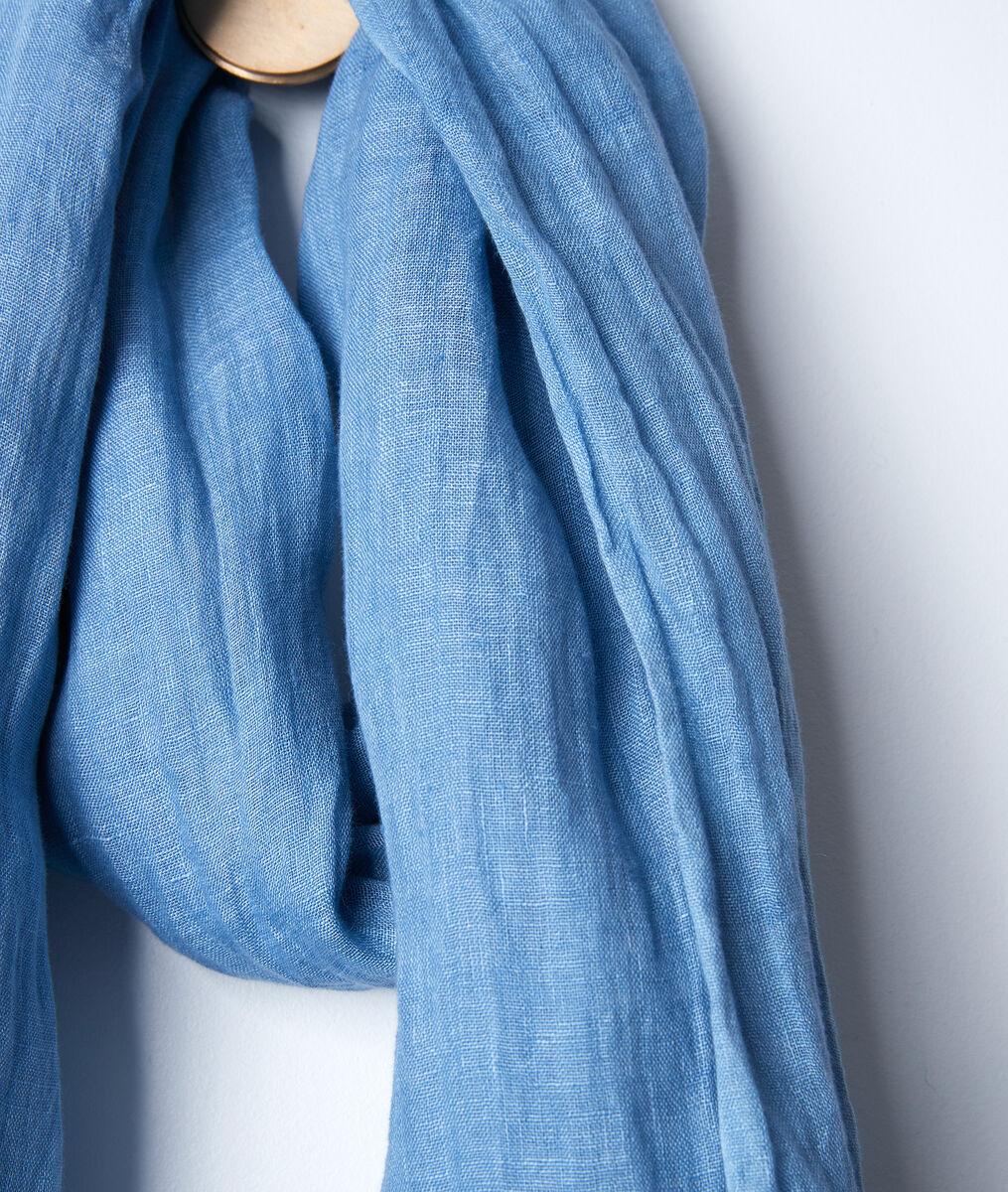 Billy azure linen scarf PhotoZ | 1-2-3