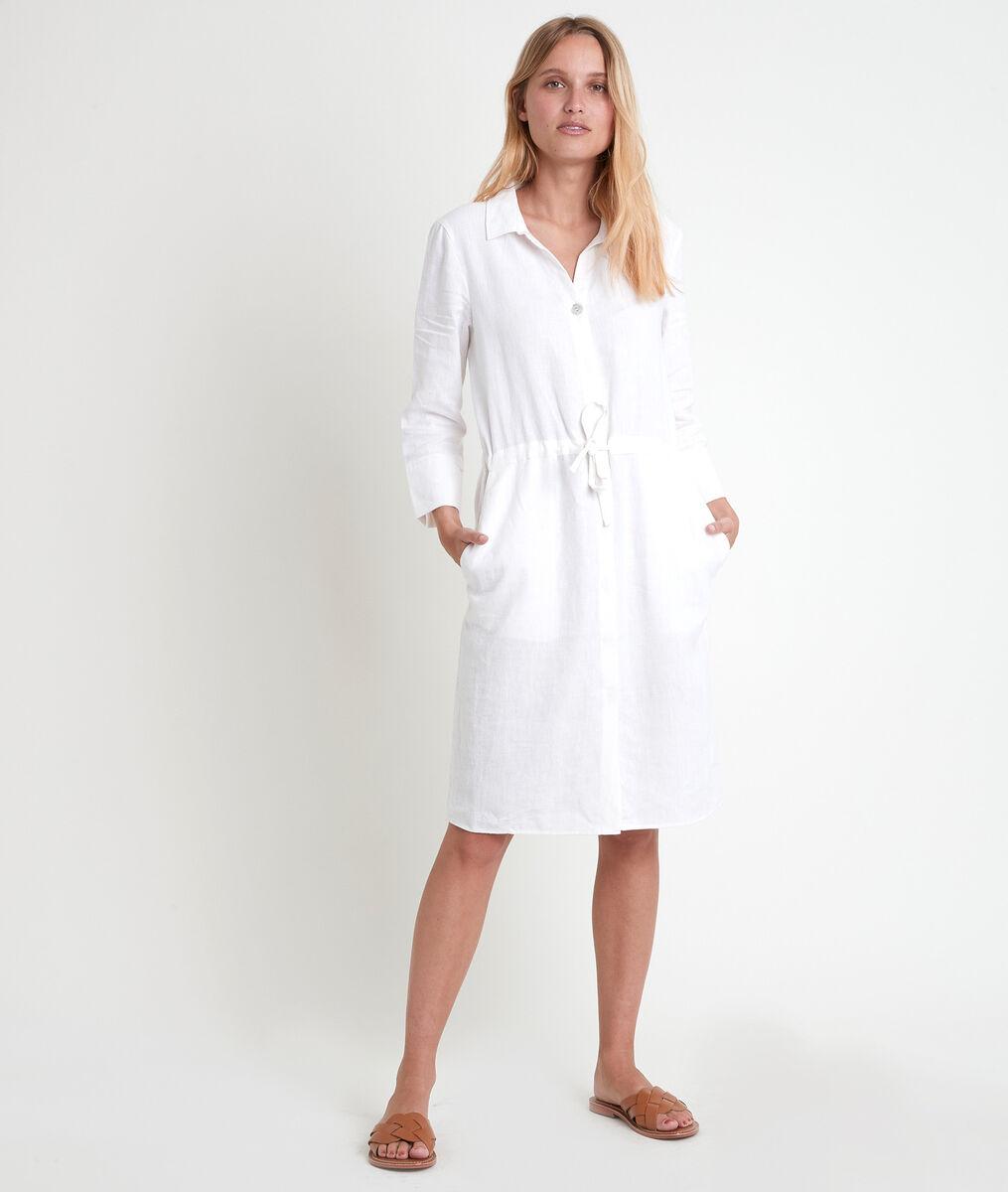 Luna vanilla certified linen shirt dress PhotoZ | 1-2-3