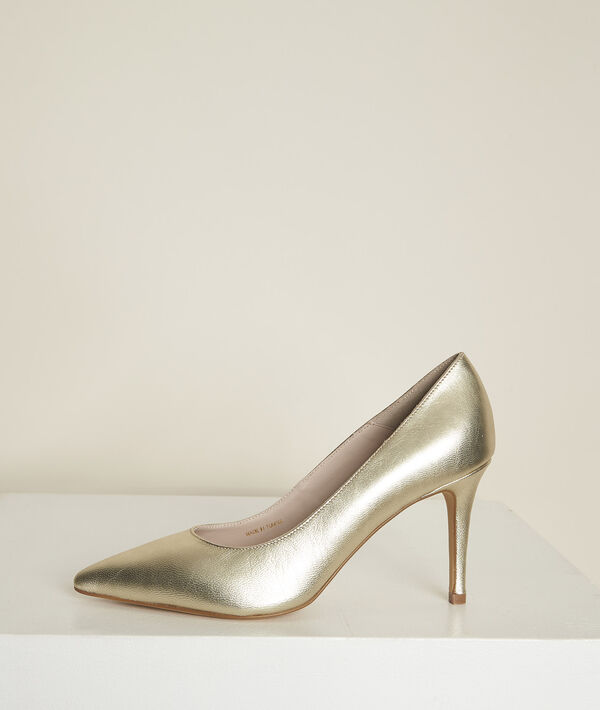 Kelly gold leather high heels PhotoZ   1-2-3