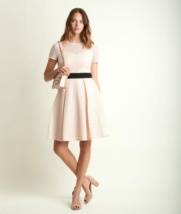 Olympe powder pink lace corolla dress PhotoZ | 1-2-3