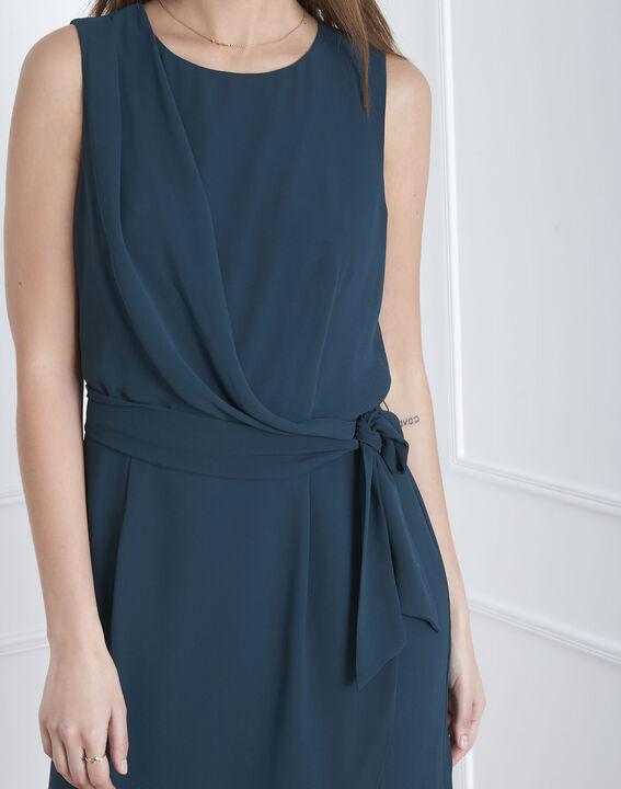 Harpe dark green draped dress (3) - Maison 123