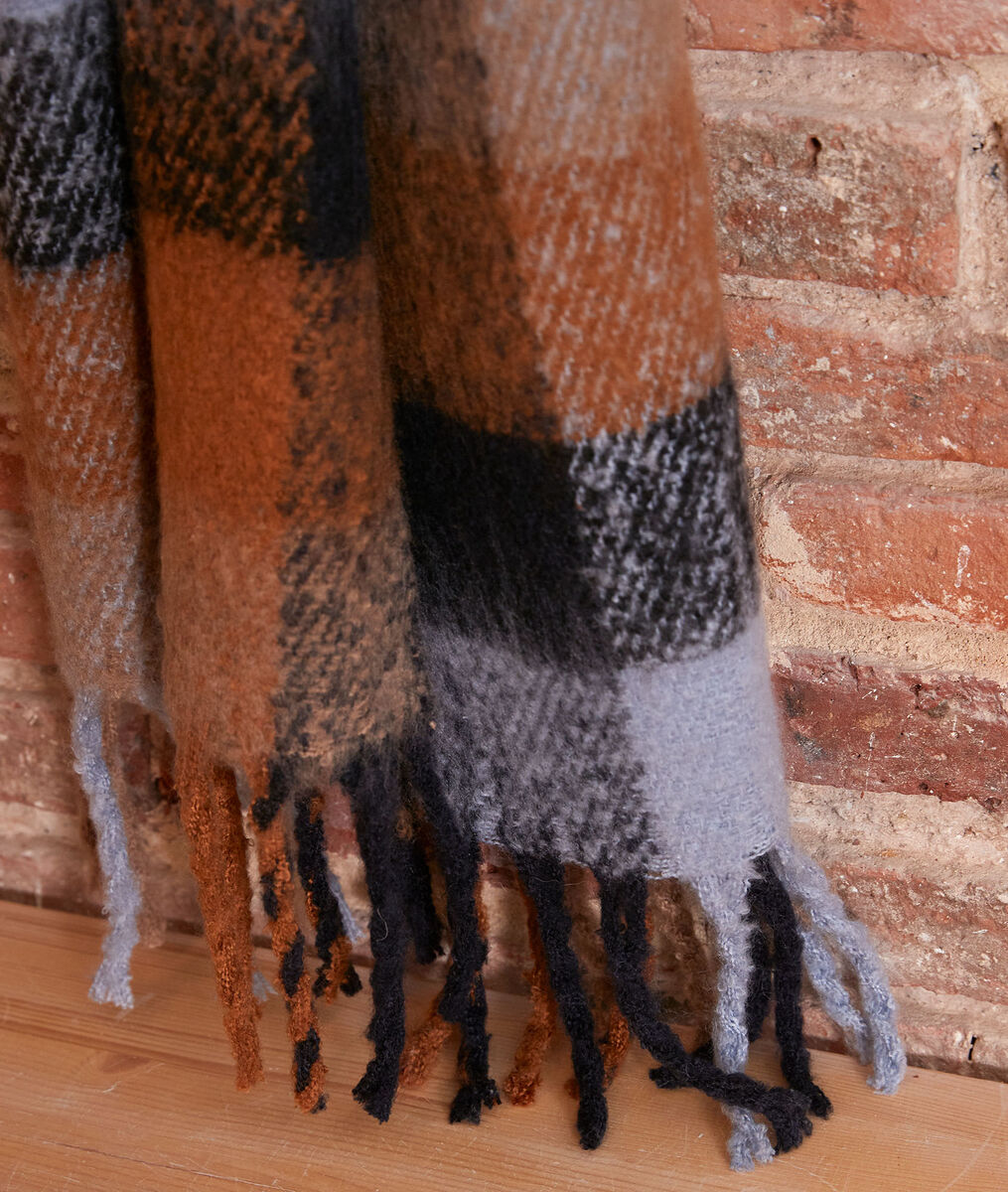 Haude thick check scarf PhotoZ | 1-2-3
