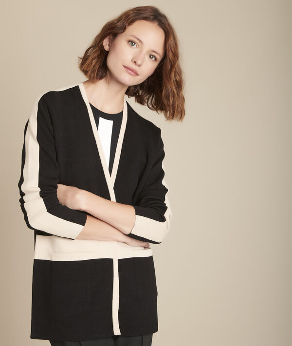 Feerie two-tone knitted jacket PhotoZ | 1-2-3