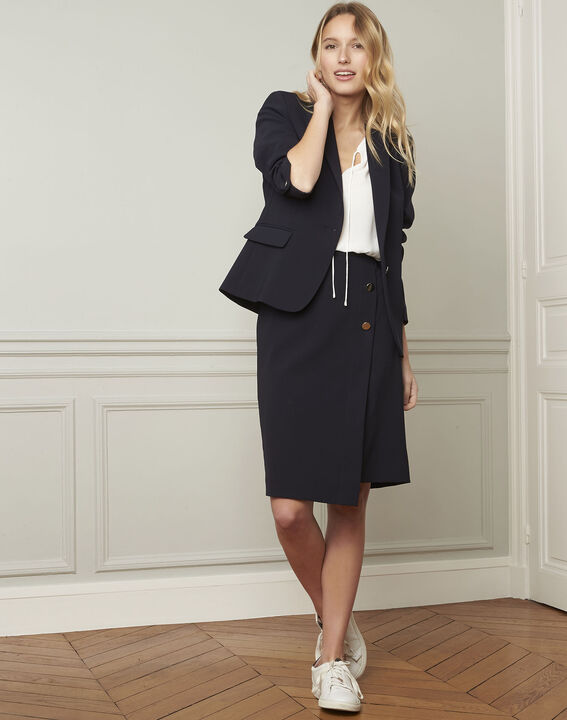 Sabine navy skirt with microfibre buttons PhotoZ | 1-2-3