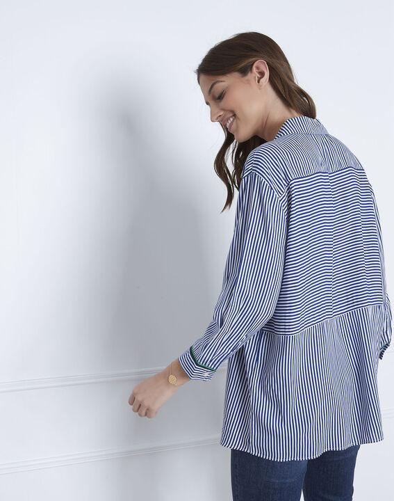 Darwin pin striped blue blouse (4) - Maison 123