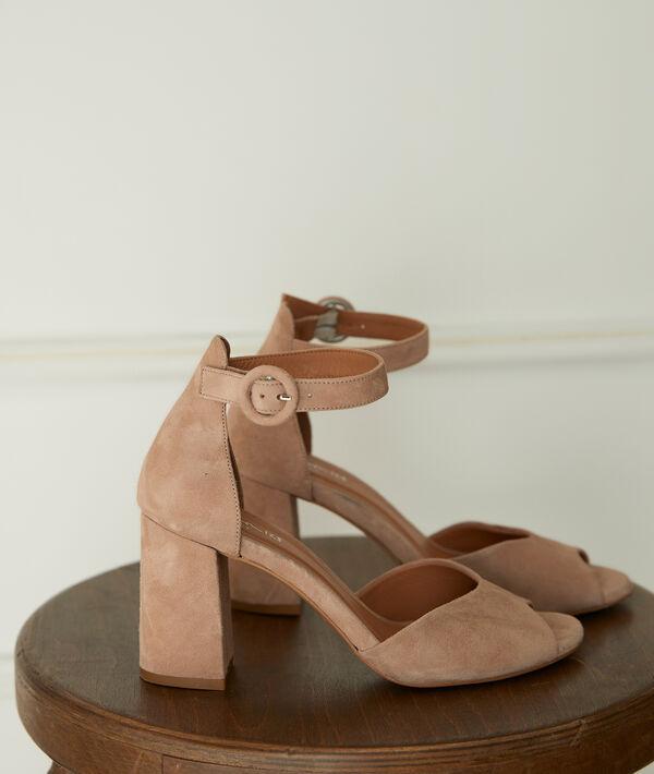 Jade Leather Heeled Sandals PhotoZ | 1-2-3